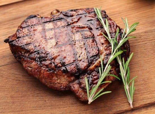 grilled steak with steakhouse marinade