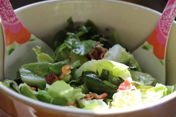 Hot Bacon Dressing Salad