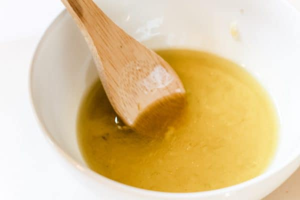 While bowl of Garlic Lime Marinade