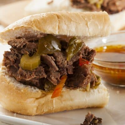 Instant Pot Chicago Style Italian Beef and Dipping Suace
