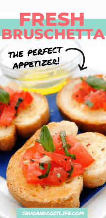 Quick & Easy Bruschetta Appetizer Recipe