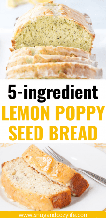 5-Ingredient Lemon Poppy Seed Bread
